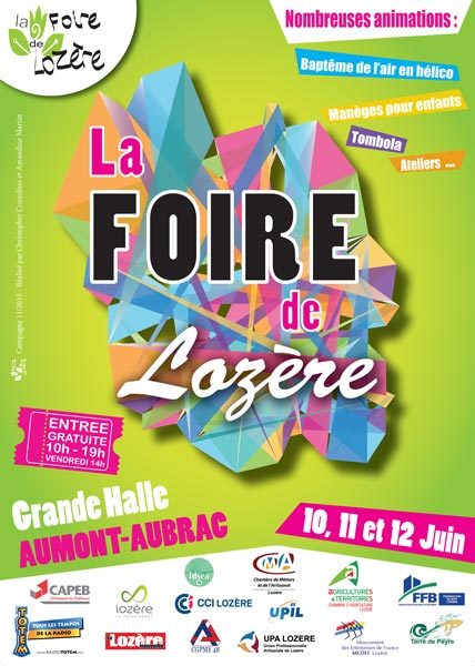 Affiche du salon La Foire de Lozère - édition 2016